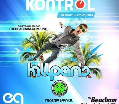 Kontrol Tuesday @ Beacham w/ Phoenix Jagger, David HeartBreak & Kill Paris 7.22.14