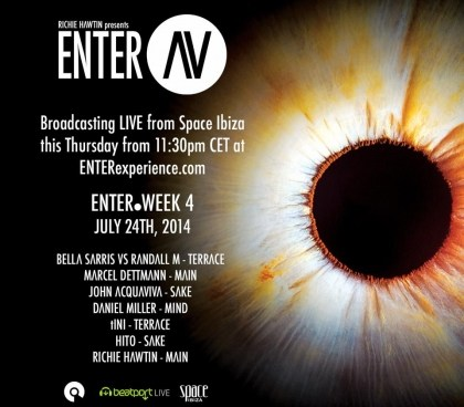 Richie Hawtin's ENTER. Space Ibiza 2014 Week 4