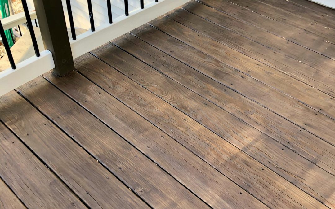Staining the Deck- Round 2
