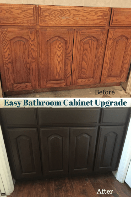 Easy Bathroom Cabinet Upgrade