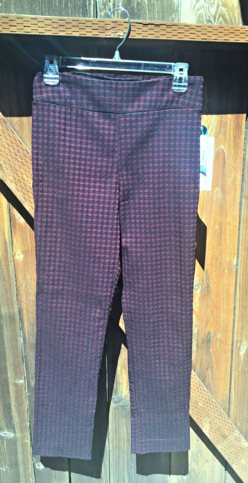 Emer Houndstooth Straight Leg Pant