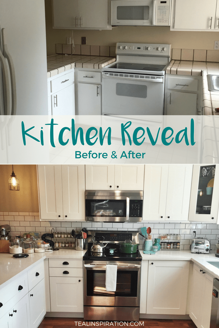 Kitchen Reveal Before & After
