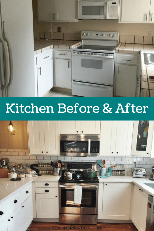Kitchen Reveal Before and After Photos