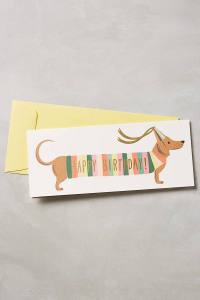 Rifle Paper Co. Dachshund Happy Birthday Card