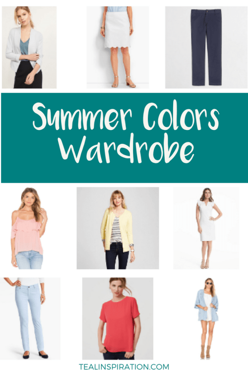 Summer Colors Wardrobe