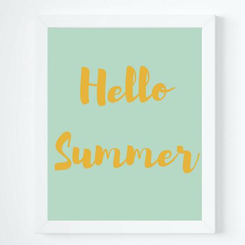 Hello Summer Printable