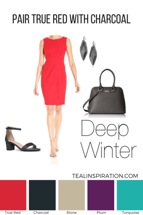 How to Wear Red if You're a Deep Winter