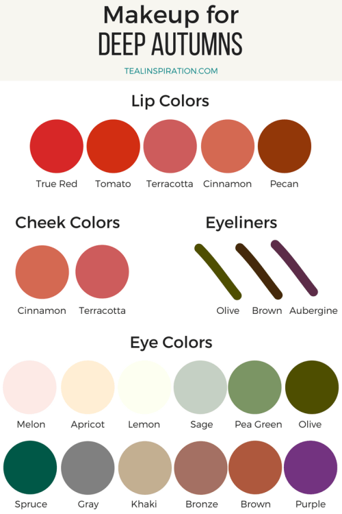 Deep Autumn Makeup Colors
