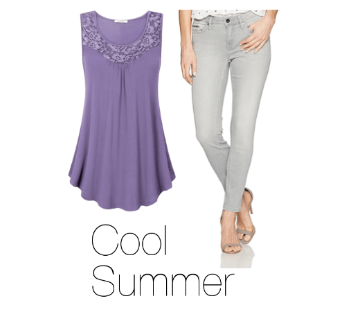 How to Wear Purple Cool Summer