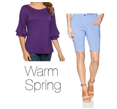 How to Wear Purple Warm Spring