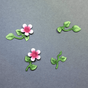 SHAPING DIE CUT FLOWERS