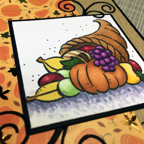 Autumn Patterned Paper on a Card for Thanksgiving