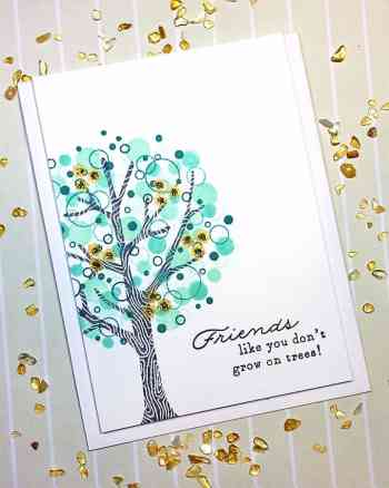 Making a Card with the Confetti Stamping Technique