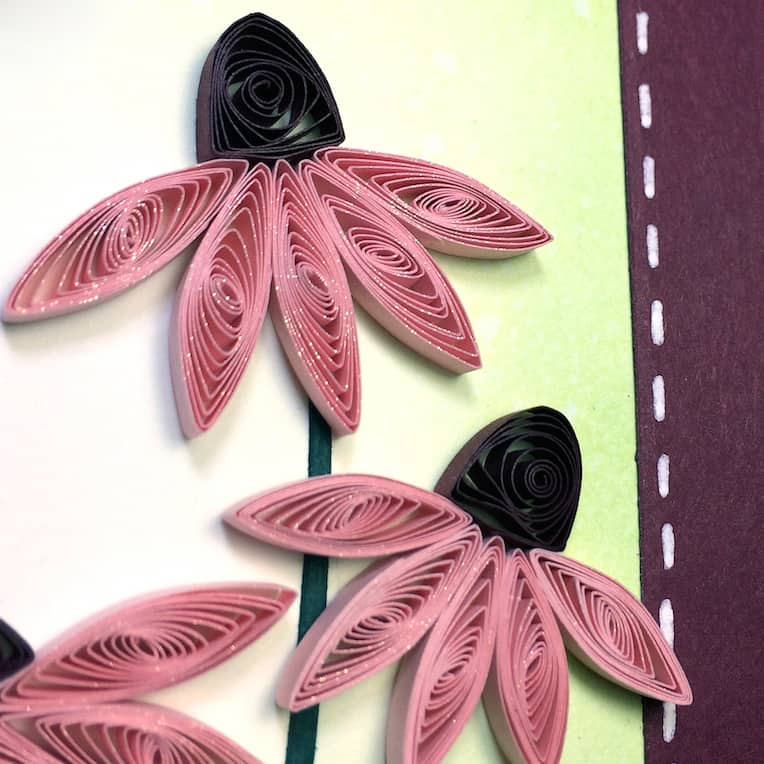 Quilled coneflowers.