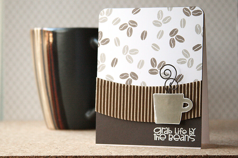 Make Patterned Paper with Stamps