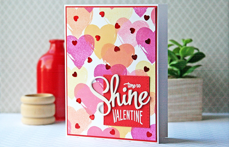 Shine Valentine with DIY Background