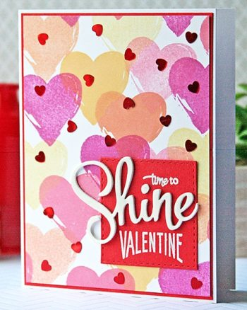Shine Valentine with DIY Patterned Paper Background