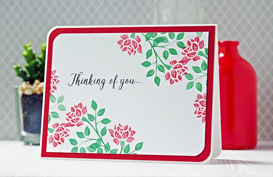 CaS Greeting card made with custom stamps using the Silhouette Mint™.