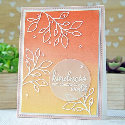 Inspiration: White Die Cuts On a Painted Background