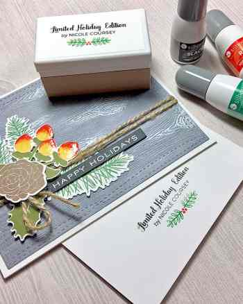 A Colorful Holiday Signature Stamp with the Silhouette Mint™