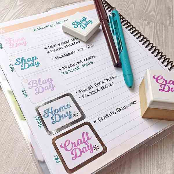 Making Custom Planner Stamps with the Mint