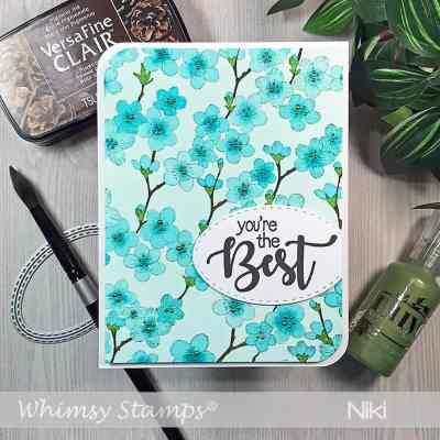 August Whimsy Stamps Release Day 2: Cherry Blossom Background
