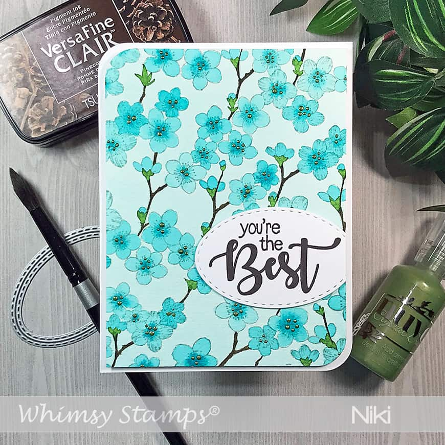 Cherry Blossom Background stamp from Whimsy Stamps
