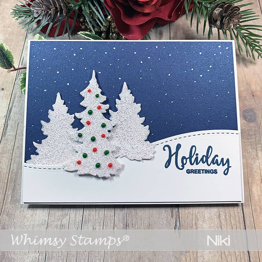 Whimsy Stamps October Release, Day 2: Evergreen Trees Die Set