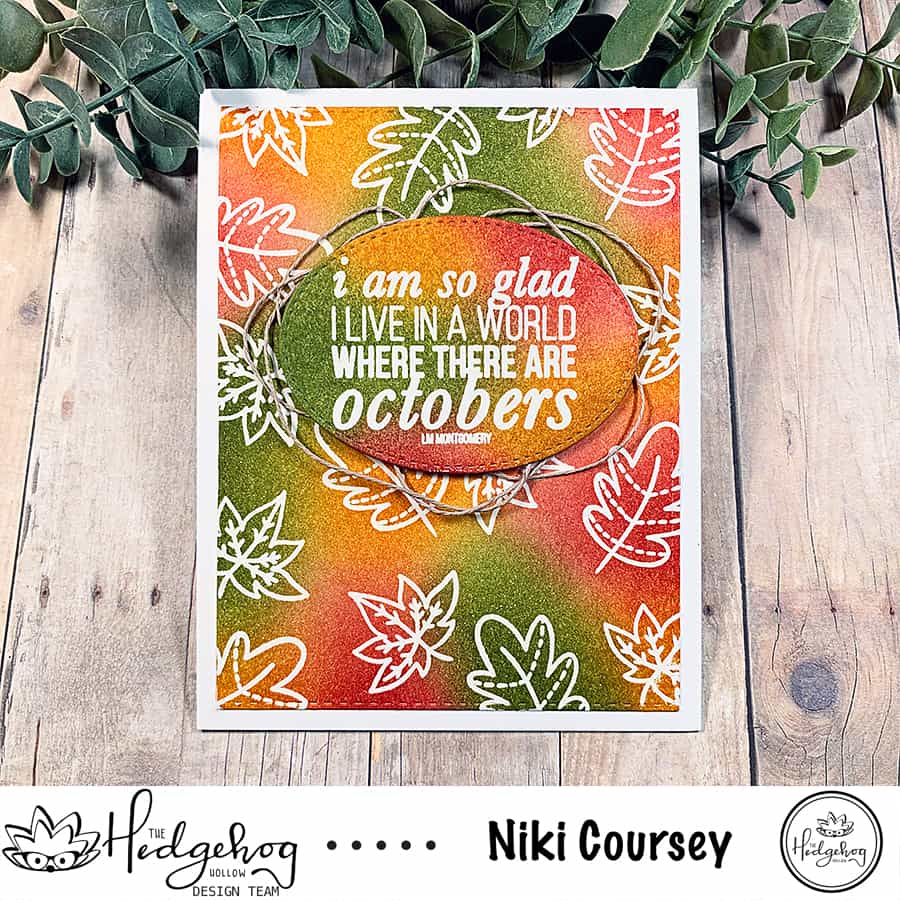 Autumn Themed Emboss Resist With Distress Inks
