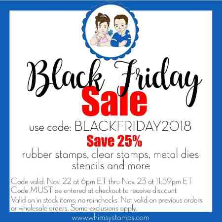 Whimsy Stamps Black Friday Sale