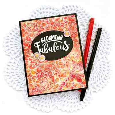 Vibrant Floral Background with Nuvo Shimmer Powder