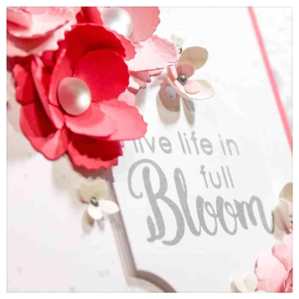 Making A Paper Floral Arrangement On A Card + Tonic Studios Dies