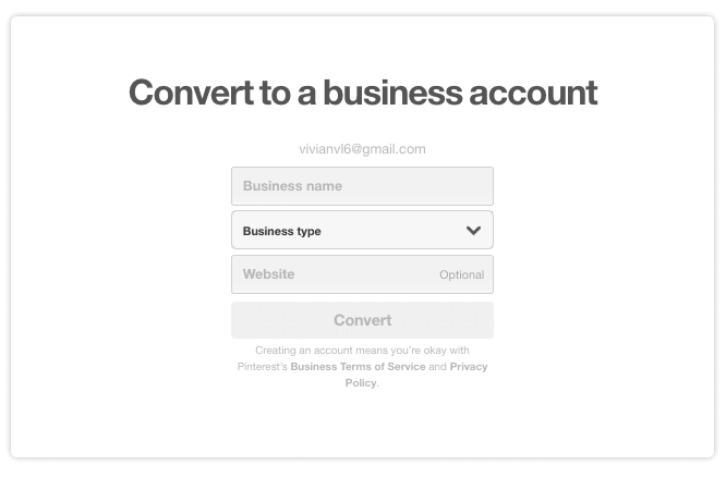 Pinterest Traffic- Business Account