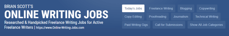 brian scott's online writing job board is a goldmine of work from home writing jobs