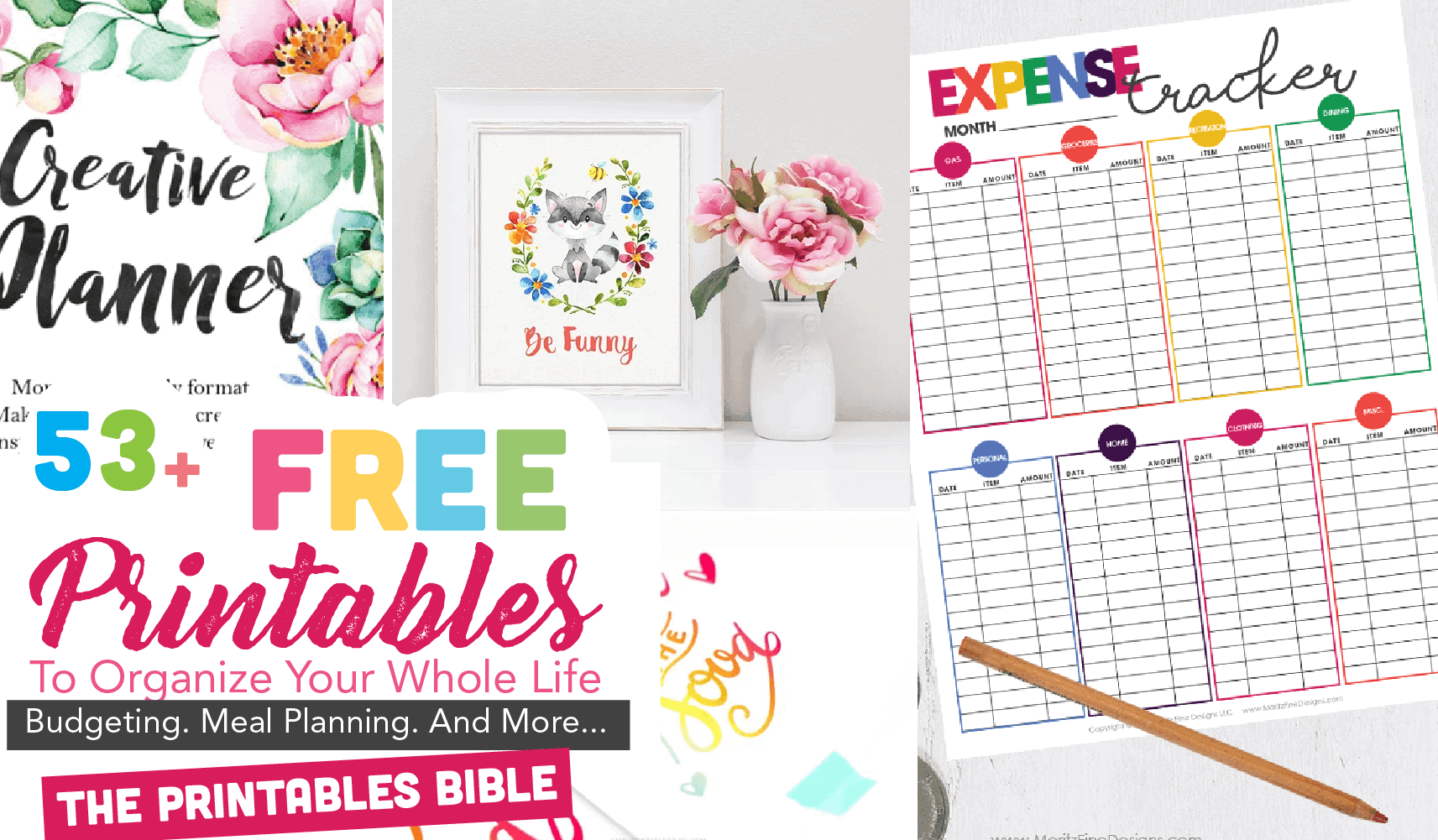 53 Of The Most Beautiful FREE Printables To Organize Your Whole