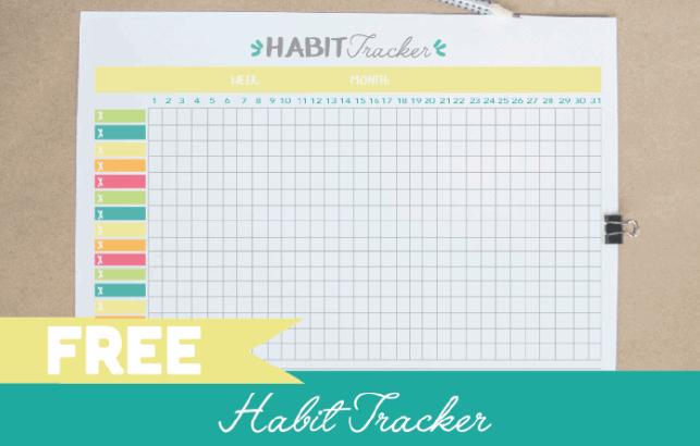 FREE Printable Habit Tracker PDF Bullet Journal Template - Pdf catalog template