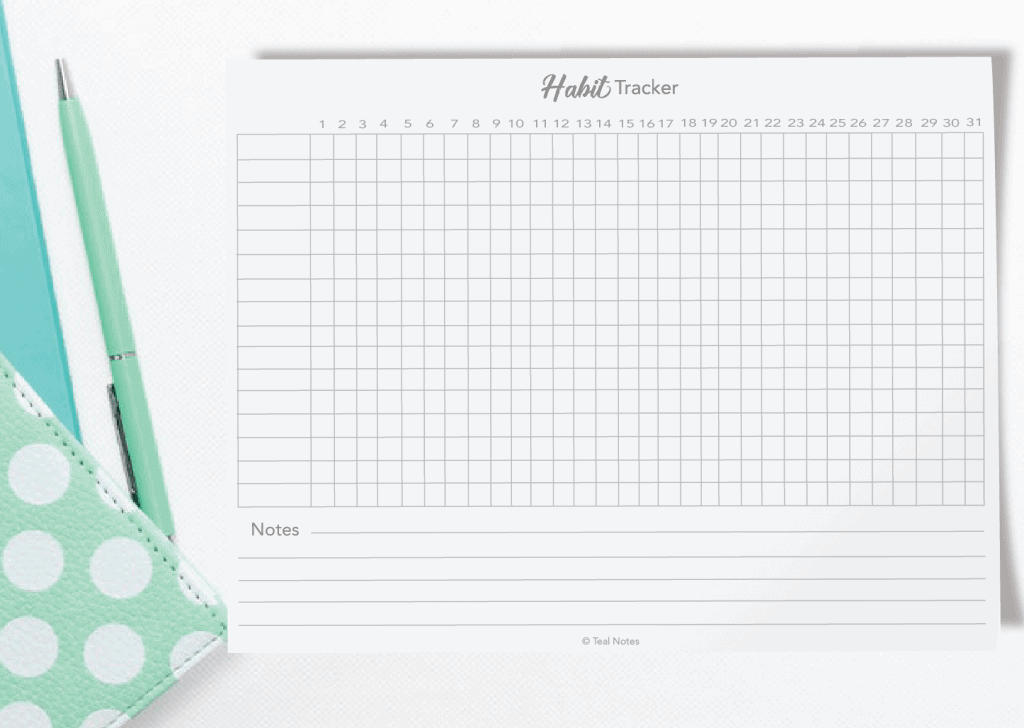 photo relating to Free Printable Habit Tracker identify Cost-free Printable Routine Tracker PDF- Bullet Magazine Template