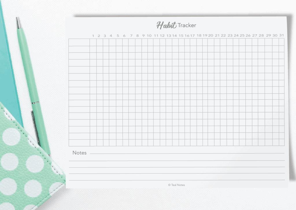 photo regarding Free Habit Tracker Printable named Cost-free Printable Behavior Tracker PDF- Bullet Magazine Template