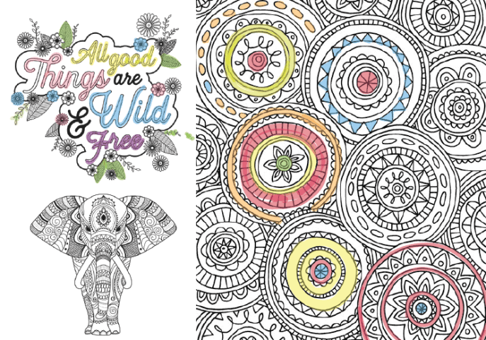 FREE Adult Coloring Pages 35 Gorgeous Printable To De Stress