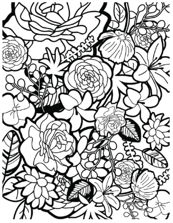 Kisscc Borders And Frames Computer Icons Flower Floral - Coloring ... | 726x565
