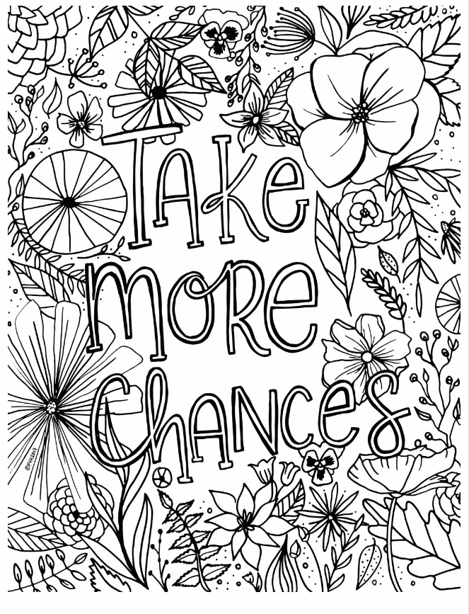 free coloring pages with quote