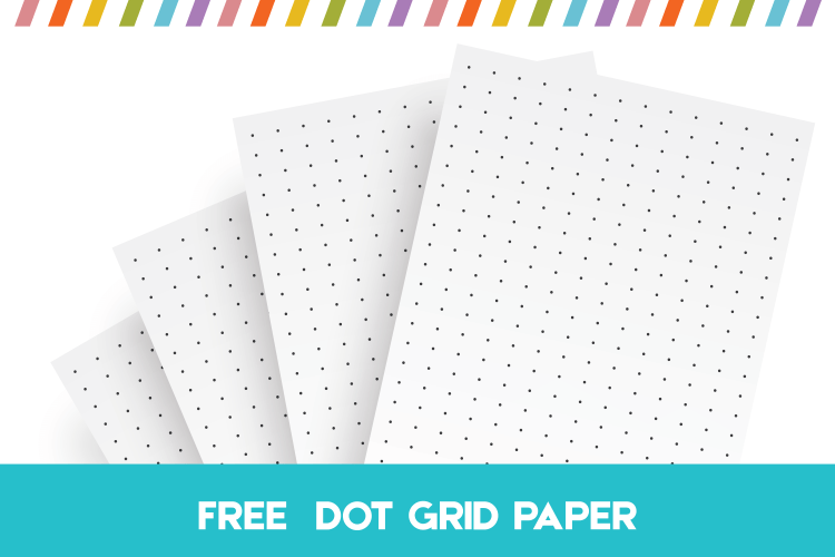 Dot grid paper, free printable dot grid paper, printable dot paper for bullet journals and dot paper notebooks