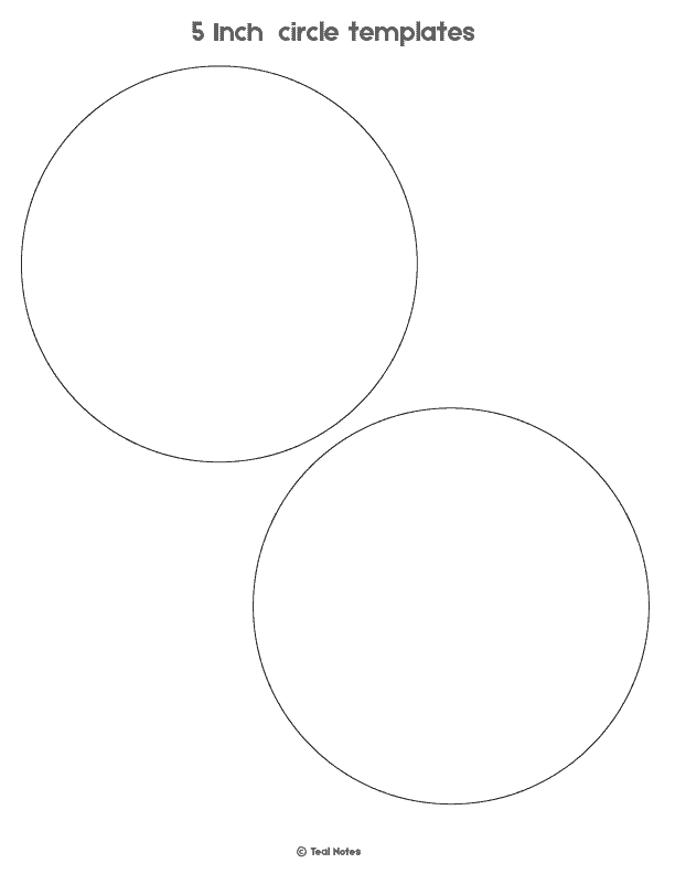 5 inch circle template