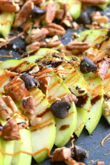 Apple nachos, caramel apple slices, how to keep apples from browning