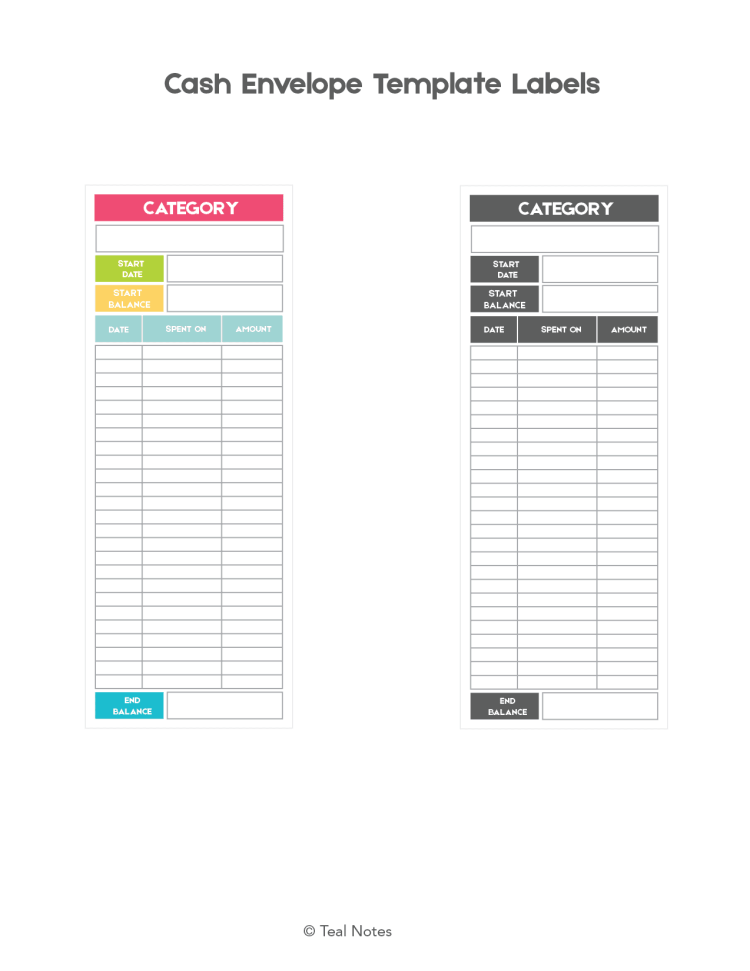 Money Envelope Template | Free Cash Envelope Template This Is How You Use A Cash Budgeting
