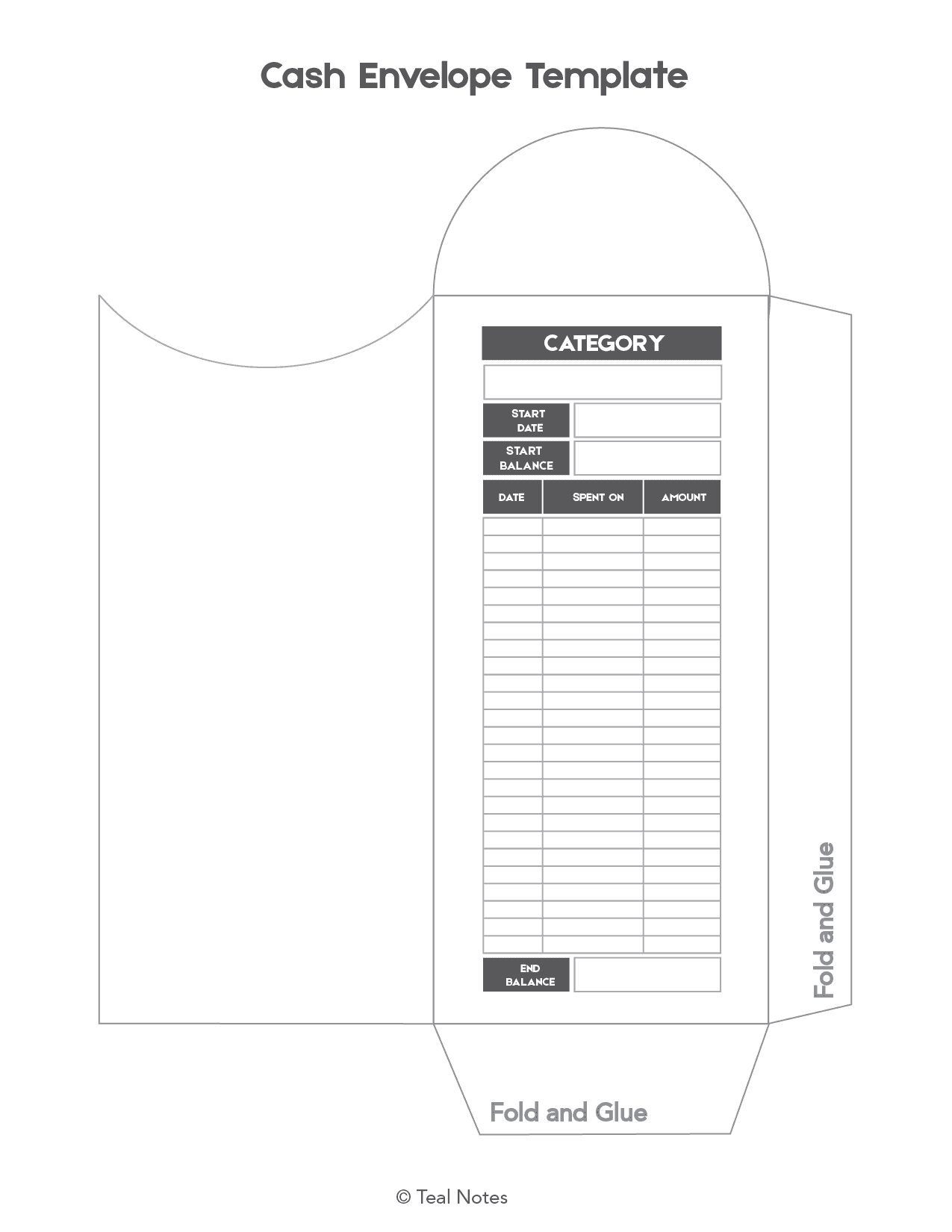 image relating to Cash Envelope Printable known as Totally free Hard cash Envelope Template: This is How Oneself Seek the services of A Income