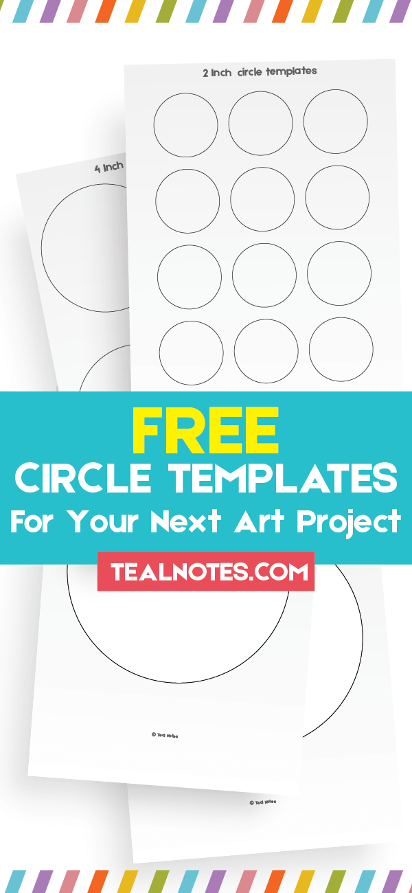 image regarding Free Printable Circle Template known as Circle Template: Cost-free Printable Circle Templates For Your