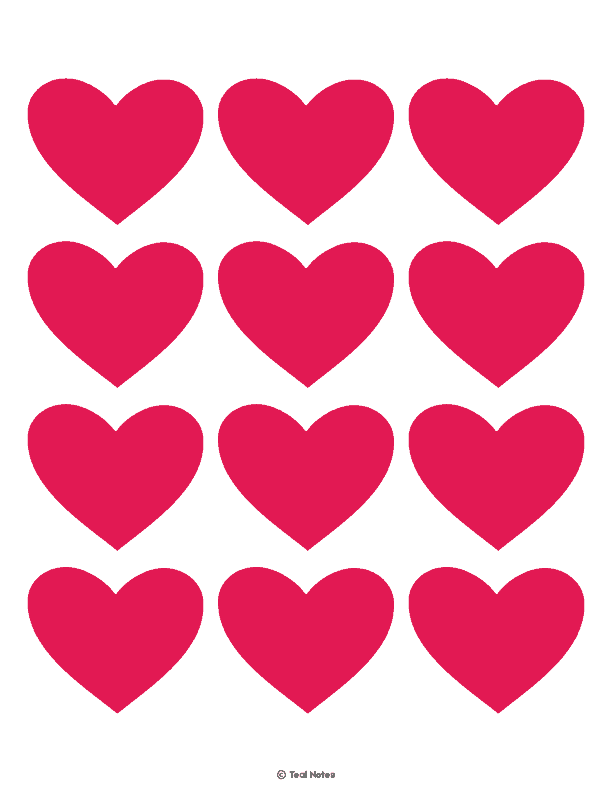 picture regarding Free Printable Hearts identified as Middle Template: Free of charge Printable Centre Slash Out Stencils And