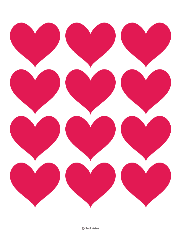 Heart Template Free Printable Heart Cut Out Stencils And Coloring Page