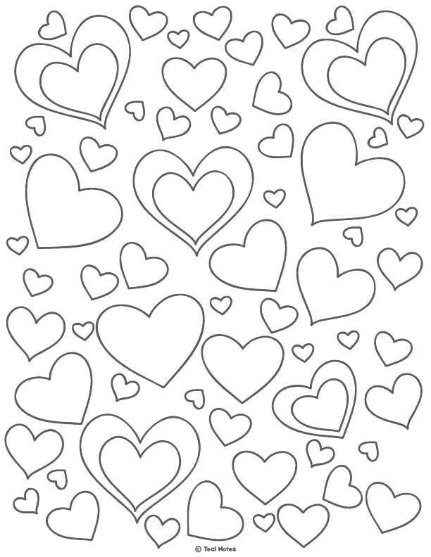 image about Free Printable Heart Coloring Pages named Center Template: Free of charge Printable Centre Reduce Out Stencils And